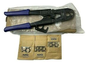 Iwiss F1807 Pex Pipe Crimping Tool With Free 20 1 2 And 5 3 4 Copper Rings