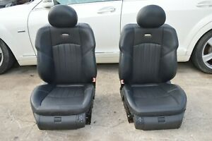 2005 W211 Mercedes E55 Amg Sport Front Left Right Seats Black Leather Pair