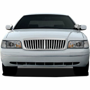 Premium Fx Chrome Abs Bar Replacement Grille For 1998 2007 Ford Crown Victoria
