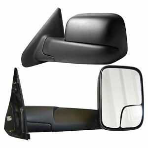 Premium Fx Manual Towing Mirrors For 2003 2009 Dodge Ram 2500 3500