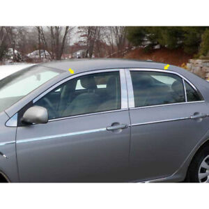4p Luxury Fx Chrome Window Package w o Posts Or Sill For 09 13 Toyota Corolla