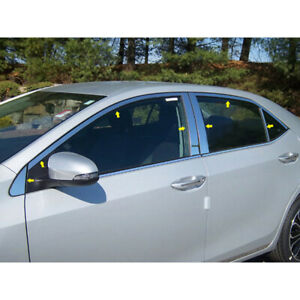 14p Luxury Fx Chrome Window Package w posts W o Sill For 14 19 Toyota Corolla
