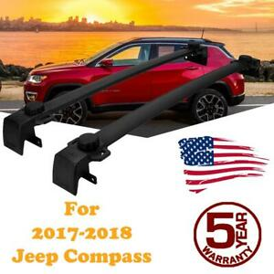 For 2017 2018 Jeep Compass Top Roof Rack Cross Bars Cargo Carrier Aluminum New
