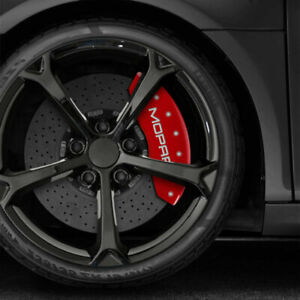 Front And Rear Red Mopar Caliper Covers For 2012 2019 Dodge Journey By Mgp