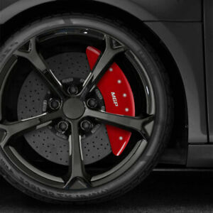 Set Of 4 Front And Rear Red Mgp Caliper Covers For 2012 2018 Audi A8 Quattro