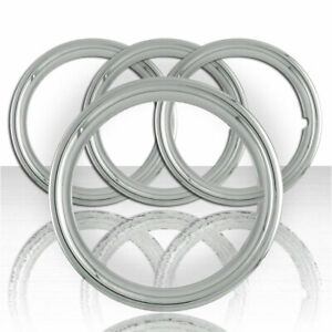 Set Of Four 16 Polished Stainless Steel 1 1 2 Deep Wheel Trim Rings