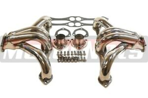 Small Block Chevy Stainless Steel Shorty Headers 283 500 Belair Impala Chevrolet