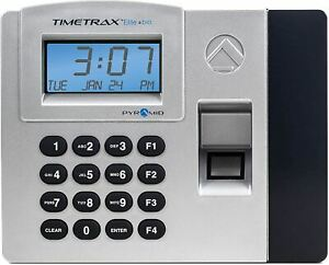 Pyramid Timetrax Elite Tteliteek Automated Biometric Fingerprint Time Clock Syst
