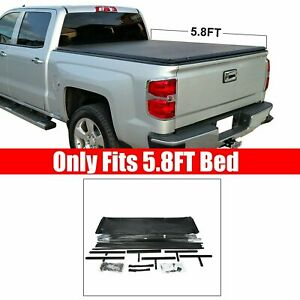 5 8ft Tonneau Cover For 2014 18 Chevy Silverado Gmc Sierra1500 Truck Bed Pickup