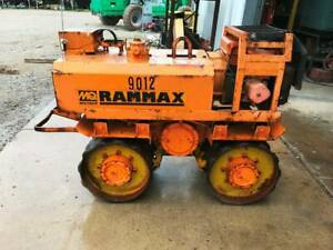 Rammax P33 24 Trench Roller Diesel Padfoot Ditch Vibratory Remote Control
