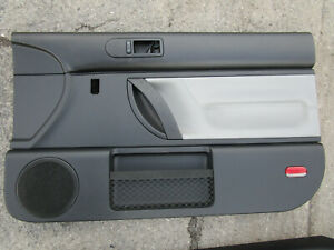 Vw New Beetle 98 05 Turbo S Grey Leather Insert Front Door Panels Oem Set Of 2