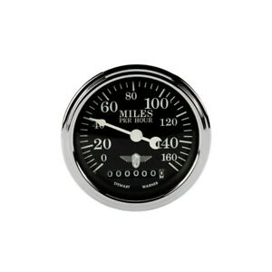 Stewart Warner 82662 Wings Electric Speedometer Black