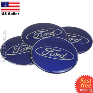 4 Pack Ford Wheel Center Cap Sticker Emblem Decals Resin Surface 2 55 Dome