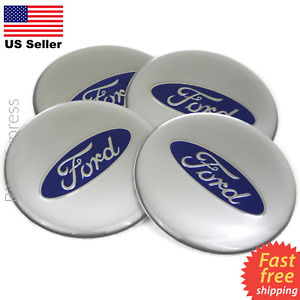 4 Pack Ford Wheel Center Cap Sticker Emblem Decals 2 55 Dome Resin Surface