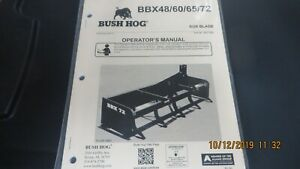 Bush Hog Brand Box Blade Bbx 48 60 65 72 Operators Manual
