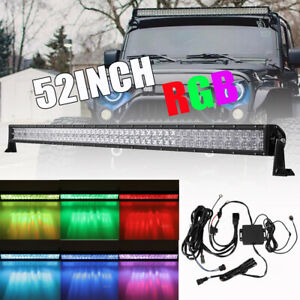 5d 52inch 1000w Cree Led Light Bar Multicolor Changing Bluetooth Offroad Car 50