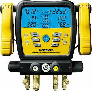 Fieldpiece Sm480v Wireless 4 port Sman Refrigerant Manifold W micron Gauge New
