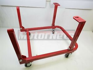 Ford Small Block Engine Cradle Stand W Wheels Sbf 260 289 302 351w Heavy Duty