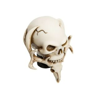Universal Manual Operation Car Skull Shift Knob Shifter Lever Resin Ivory White