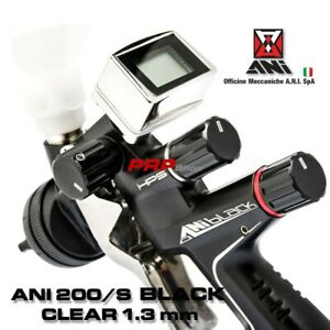 Ani 200 s Black Clear 1 3 Mm Spray Gun With Digital Manometer In Briefcase