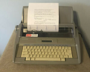 Brother Sx 4000 Electronic Lcd Typewriter Dictionary Auto Correct Tested