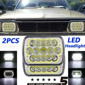 7x6 Inch 150w Led Halo Headlight Projector Sealed Beam Waterproof Universal Us