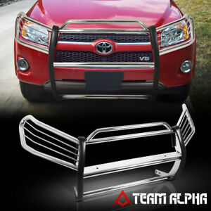 Fits 2006 2012 Toyota Rav4 Chrome Stainless Steel 1 5 Bumper Grille brush Guard