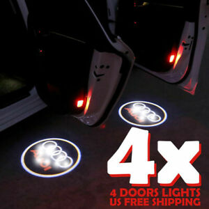 4xfor Audi Logo Led Laser Projector Car Door Welcome Ghost Courtesy Shadow Light