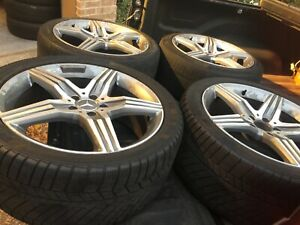 2015 2107 Oem Mercedes Benz S63 Amg Wheels Rims Winter Tires Continental
