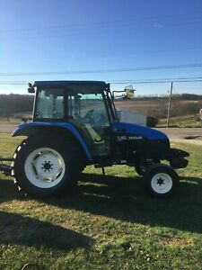 2003 New Holland Tl80 Tractor Cab heat air 2wd 2 Rear Remotes 80hp