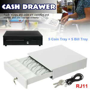 5 Bill 5 Coin Tray Cash Register Drawer Box Compatible Pos Printer Money