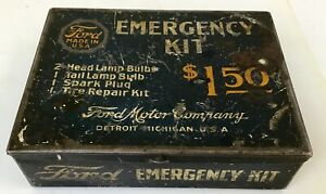 Antique Accessory ford Model A T Vintage Auto Tt Truck Old Car emergency Kit