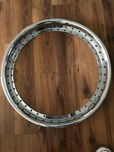 22x2 40 Hole Outer Reverse Flat Chrome Barrel 3 Piece Wheels