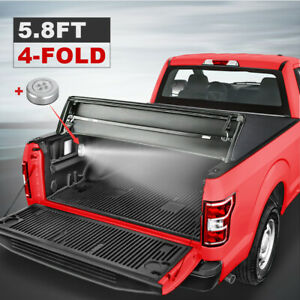 5 8 4 Fold Truck Bed Tonneau Cover For Gmc Sierra 1500 Chevrolet Silverado 14 19