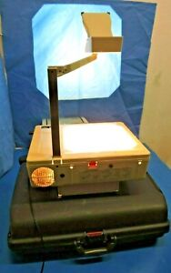 Elmo Hp 280s Overhead Folding Projector With Extra Lamps Case Bad Fan As is