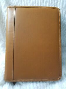 Brown Leather 7 Ring Personal Business Planner Journal 11 X 8