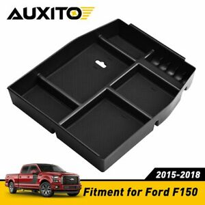 For Ford F150 2015 2018 Center Console Glove Storage Box Armrest Organizer Tray