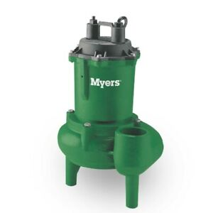 Myers Mw50 11p 1 2 5 Hp Residential Submersible Automatic Sewage Pump