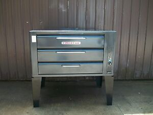 Blodgett 981 Natural Deck Gas Double Pizza Oven With New Stones New Controls