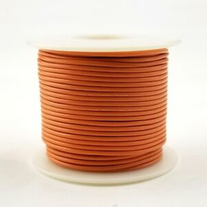 22 Awg Gauge Stranded Orange 300 Volt Ul1007 Pvc Hook Up Wire 100ft Roll 300v