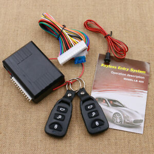 Universal Car Vehicle Keyless Entry System Remote Central Kit Door Lock Locking