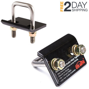 2 Trailer Lock Down Hitch Tightener Stabilizer Heavy Duty Anti Rattle Tow Clamp