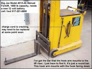 Big Joe Manual Forklift Model 4013 a5 Load Heavy Tooling On Your Bridgepo