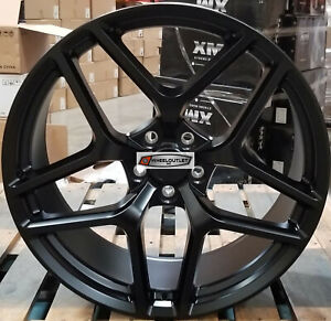 22 Stagger Wheels Satin Black Z28 Style Rims Tires Fit Chevy Camaro Zl1 Rs Ss