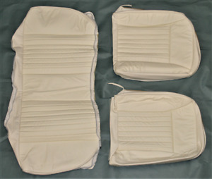 1990 1993 Mustang Hatchback Leather vinyl Rear Seat Covers Color Snow