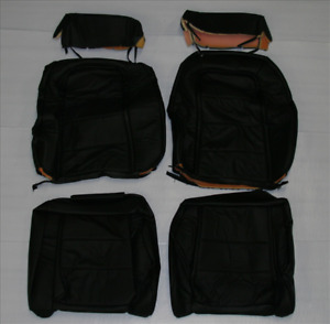 1984 1985 1986 Mustang Leather Front Bucket Seat Covers Color Black