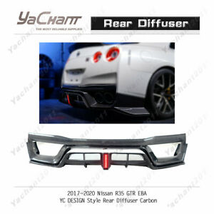Carbon Under Kit Fit For 2017 2020 Nissan R35 Gtr Eba Yc Design Rear Diffuser