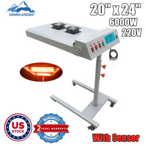 Us 220v 6000w 20 X 24 Automatic Ir Flash Dryer With Sensor For Screen Printing