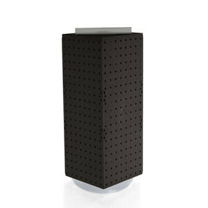 4 Sided Revolving Pegboard Display In Black 8 W X 20 H Inches