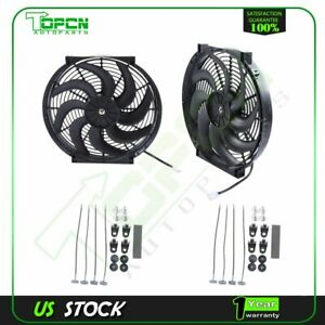 12v Mount Kit 14 Inch Plastic Radiator Cooling Fan Fits 01 15 Hyundai Santa Fe